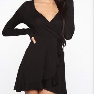 BNWOT FN Flowy Mini Black Dress